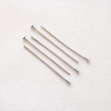 "Matt Silver Plated 1"" (25mm) Headpin - 50"